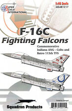 Ms481217/decals-f-16c - Indiana ANG-Colts and Retrò 113th TFS - 1/48