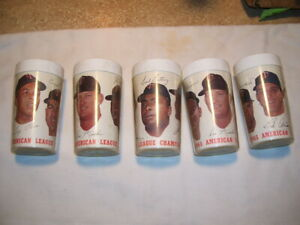Set of 5 1965 Minnesota MN Twins MLB American League Champion Glasses RARE!