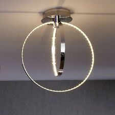 WOFI lámpara LED de techo Cosmo CROMADO 2 Luces Regulable Salón Comedor Oficina