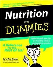 Nutrition For Dummies (For Dummies (Computer/Tech)) Rinzler, Carol Ann Paperbac