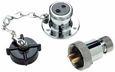Boat heavy duty crome brass 12V DC deck connector socket plug power outlet 10161