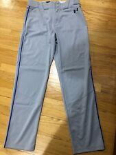 Under Armour Baseball Pants Grey w/Royal Piping