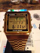 Casio A500WGA-1 Men's Women Retro World Time Alarm Chronograph Digital