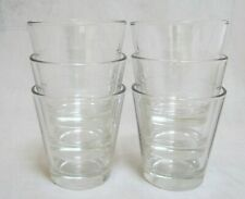 Set of 6 (Six) 5-oz Clear Juice Glasses