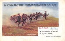 A7398) BICCHIERATA A ROMA 1904 UFFICIALI 3 BERSAGLIERE AI COLLEGHI DEL 2/4/5/10