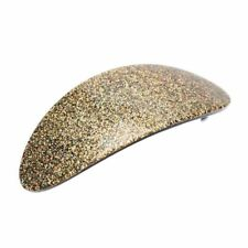 Golden Glitter Hair Clips Barrettes Oval Shaped