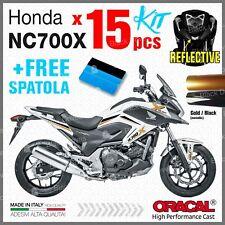 15 kit ADESIVI Oro Nero compatibile con Honda NC 700 X 2011 2015 NC700 moto