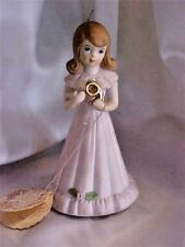 Vintage 1982 Enesco Growing Up Birthday Girl Age 9 Figurine
