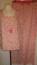 Bali Studio Pajamas XL Set Pink Floral New PJs Womens