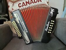 HOHNER PANTHER DIATONIC ACCORDION BLACK USED.WITH HARD CASE.