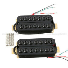 7 Cuerdas Puente y Cuello Guitar Pickup Set Doble Bobina Humbucker Negro