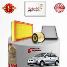 KIT TAGLIANDO 3 FILTRI E OLIO VW POLO IV 9N 1.2 12V 47KW 65CV 2002 ->