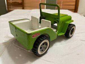 Vintage 1970's Tonka USA Green Jeep