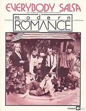 Everybody Salsa - Modern Romance - 1981 Sheet Music