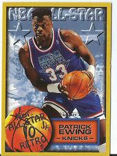 CARTE COLLECTION NBA BASKET BALL FLEER 96-97 ALL STAR 11 RETRO EWING N°311