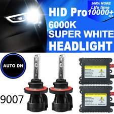 2x HID Conversion Kit Bi-Xenon Headlight 9007 Light Bulbs 6000K 55W DBK Hi-Lo