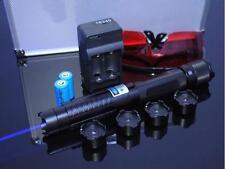 Most Powerful Burning Laser Pen Torch Focusable Blue Laser Pointer Burn Match US