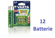 12 batterie AA Stilo ricaricabili VARTA 2600 mAh = uso di 12000 batt. alkaline