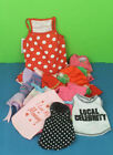 Lot 11 Pieces Girl Pet Dogs Clothes XS Small & Medium Top Dresses Shirts Leash +