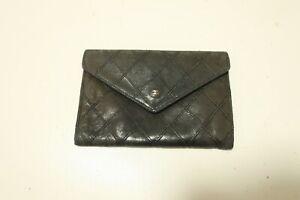 Authentic CHANEL Bicolore Leather Black Purse Wallet  #8105