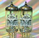 2x Wonderful E88CC Telefunken <> Röhre Tube = Matched Pair Ulm same Code