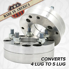 "2pc USA MADE 4x140mm to 5x4.5"" Wheel Adapter 1.75"" Spacer 