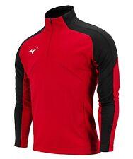Mizuno Men Knit Half-Zip Jacket L/S Jersey Red Tee Top Casual Shirt P2MC0K0662