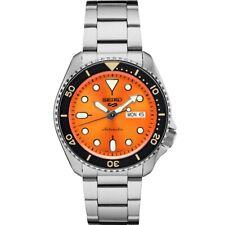 New Seiko 5 Automatic Orange Dial Steel Bracelet Men's Watch SRPD59