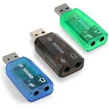 Tarjeta de Sonido 5.1 USB Adaptador Audio Micrófono Virtual DJ Windows 10 Mac OS