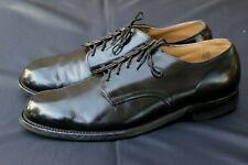 Vintage 1976 Black Military Oxfords Dress Uniform Shoes 9R DJ Leavenworth USA