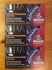 Adnams Broadside beer promotional advert flyer cards x3