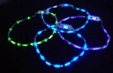 10 PAIR RAVE GLOW FLASHING STROBE LIGHT UP NEON NECKLACE