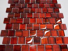 glasmosaik mosaik rot schwarz effekt fliese bad dusche küche klarglas 8 mm