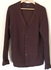 ORIGINAL American Apparel Cotton Fisherman Cardigan Jacket Knit Brown XL
