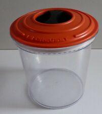 LE CREUSET ORANGE LOCKING LID PLASTIC AIRTIGHT CANISTER FOOD STORE JAR 1.6L