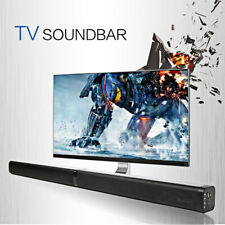 TV Sound Bar 4 Speaker System Wireless Stereo BT Subwoofer Home Theater+Remote