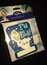 DISNEY FROZEN OLAF KIDS BEDROOM DOOR PLATE SIGN ADD YOUR OWN NAME DOOR PLAQUE