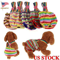 Cute Washable Suspender Strap Dog Diapers Puppy Female Pet Clothes Underwear