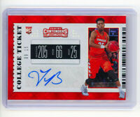 TYUS BATTLE 2019 Panini Contenders College Ticket Red Diamond Auto 9 of /15 RC