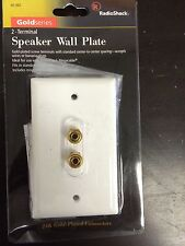 (50 pc) RadioShack Speaker 24K Gold Plated Wall Plate 2 Terminal Binding Post