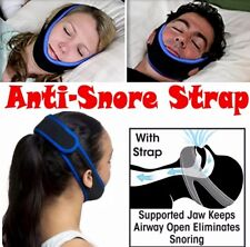 NO SNORING SOLUTION Brand AntiSnore Chin Strap! NEW Sleeping Device for Apnea 💤
