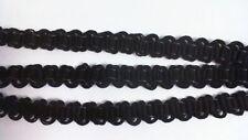 Porter Valmic Scroll Gimp Braid Trim - 25 Meters - Black #11D475