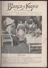 [Madrid]. Blanco y Negro. 1912. 13 issues between No.1002 & 1025. 1 vol.