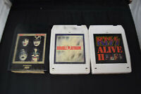 3X Kiss 8 Track Tape Dynasty Alive II Vol.1 & Double Platinum Vol. 2 SEE DESCRIP