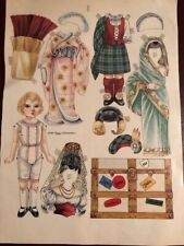 Vintage Paper Doll & Costumes By Peggy Jo Rosamond - Uncut -1989 - 1 page color