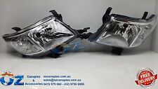 TOYOTA HILUX Head lights Headlamps NEW PAIR left & right 07/2011 - 06/2015