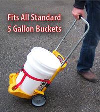 Salt n Sand Spreader Snow n Ice Melt Rolling Cart 5 Gallon (bucket not included)