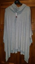NEXT GREY ROLL NECK CASHMERE WOOL MIX PONCHO TOP UK LARGE EUR 44-46 NEW TAG