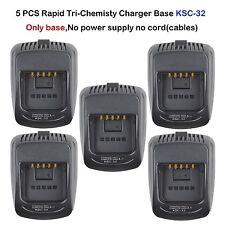 5x KSC-32 Rapid Battery Charger Base for Kenwood TK2180 TK2180K Portable Radio