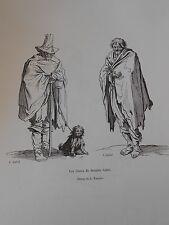 Gravure 19èm - Les Gueux de Jacques Callot